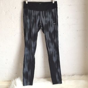 Nike Dri-Fit black & gray full length leggings